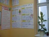 Ručně malované plakáty jazykové školy